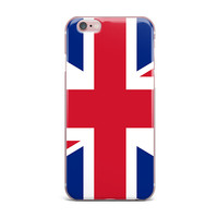 """Bruce Stanfield """"Classic Union Jack"""" Blue Red iPhone Case"""