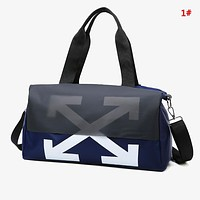 Off White Fashion New Cross Arrow Print Women Men Shopping Leisure Shoulder Bag Handbag 1#