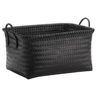Large Woven Rectangular Storage Basket - Black - Room Essentials™