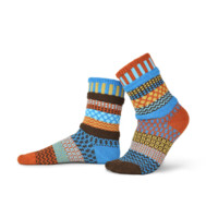 Amber Sky Adult Crew Socks