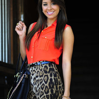 She's An Aussie Blouse: Red-Orange   Hope's