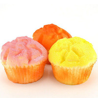 8x6cm Yummy Jumbo Cup Cake Bread Hand Pillow Scent Puffs Squishy Charms Toy