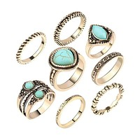 8 Piece Gypsy Ring Set