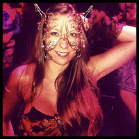Bronze & Crystal Butterfly Mask