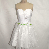 white crystal yarn prom dresses with flowers best cheap sweetheart homecoming dress hot simple beautiful gowns for party cocktail dress