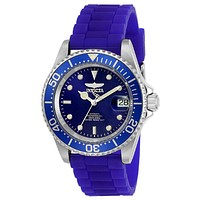 INVICTA Pro Diver Mens Automatic - Blue Dial & Strap - Magnified Date - 200m