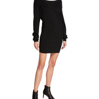 T by Alexander Wang Ribbed Off-Shoulder Mini Sweater Dress with Tank