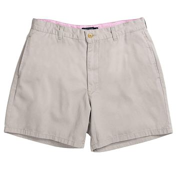 """The Regatta 6"""" Short Flat Front in Washed Gray by Southern Marsh"""