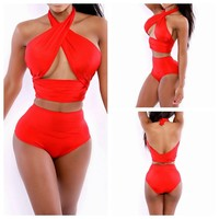 Hot New Arrival Summer Swimsuit Beach Stylish Lovely Sexy Set Pink Swimwear Bikini [6512785223]