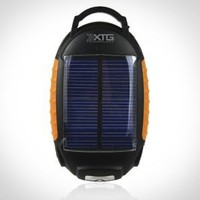 XTG Solar Charger, Compact Solar Powered Battery Pack (1800mAh, .5A output) with Flashlight & Lantern for iPhone, Samsung Galaxy & USB Devices. Great for Hiking & Adventure. Includes hook for hanging on backpacks.