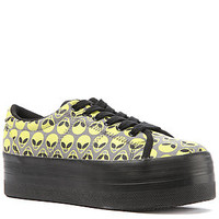 Jeffrey Campbell Sneaker ZOMG in Green ALien and Black