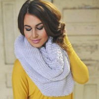 Cable Knit Infinity- Ivory