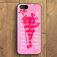 Sailor Moon Quotes iPhone 5S Case