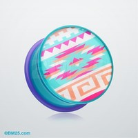 Pastel Navajo Single Flared Ear Gauge Plug