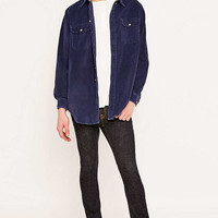 Urban Renewal Vintage Customised Navy Corduroy Shirt - Urban Outfitters