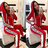 Womens Brand Tracksuits Two Pieces Zipper Hoodies + Pants Fashion Designer Jogging Sporter Suit Luxury Goods Female Clothe