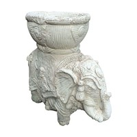 Pre-owned Vintage White Elephant Planter