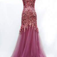 KC131557 Pink Sequin Prom Dress by Kari Chang Couture