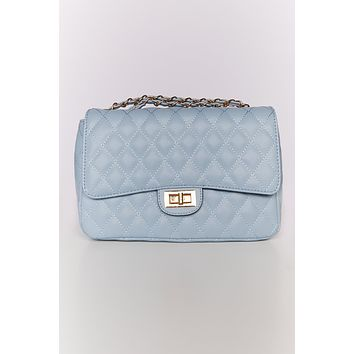 Nights Out Quilted Purse (Blue)