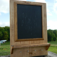 Rustic chalkboard and keyholder, magnetic, home decor