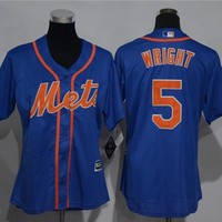 Women's New York Mets #5 David Wright Majestic Cool Base Jersey