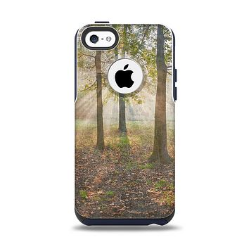 The Vivia Colored Sunny Forrest Apple iPhone 5c Otterbox Commuter Case Skin Set