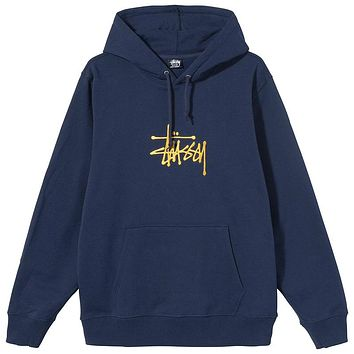 SP21 Basic Stussy Embroidered Hoodie Navy