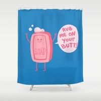 Lil' Soap Shower Curtain by Jessica Fink