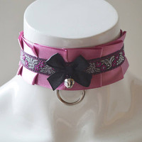 Kittenplay collar - Oriental spice - BDSM proof pink ddlg daddy kink princess kawaii cute neko girl lolita petplay kitten play choker