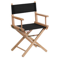 Flash Furniture Standard Height Directors Chair in Black [TYD02-BK-GG]