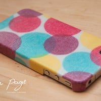Apple iphone case for iphone iPhone 5 iphone 4 iphone 4s iphone 3Gs : Colorful circle