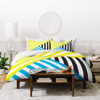 Three Of The Possessed Wave TriColour Duvet Cover