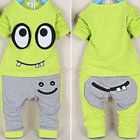 New Spring Baby Boys Girls Clothes Set Cotton Cartoon Print Tops + Pant Twinset Long Sleeve Baby Clothing Sets SV006716|28001 Children's Clothing = 1651260484