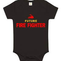 Cute Future Firefighter Baby Clothes Infant Bodysuit Jumper Baby Shower Gift idea Funny New Mom Christmas Pregnant Fireman Firetruck