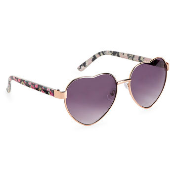 Floral Heart Sunglasses
