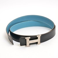 hermes belt, men hermes belt, women hermes belt, belt, belt hermes, belts for men, belts for women, Leather belt, men belt, mens belt, women belt,Authentic HERMES Box calf Constance H Reversible 110R belt