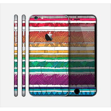 The Crayon Colored Doodle Patterns Skin for the Apple iPhone 6 Plus