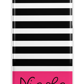 PRETTY GIRL'S STRIPE - MONOGRAM IPHONE CASE FOR TEENS