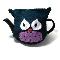 Knitting Pattern - Owl Tea Cozy - Instant download PDF