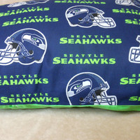 Seahawks All Cotton 13 x 17 inch Pillow Cover to go with 12 x 16 Machine Washable Polyester Pillow insert available separately