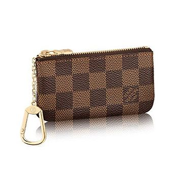 Louis Vuitton Damier Canvas Key Pouch Key Ring N62658 Made in France