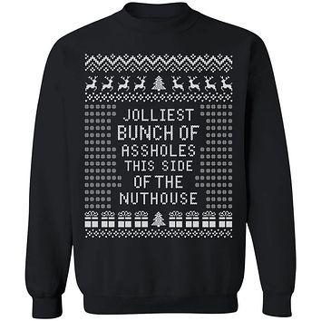 JOLLIEST BUNCH Of ASSHOLES - Ugly Christmas Sweater