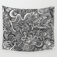 Funnel Me Wall Tapestry by Brenda Erickson