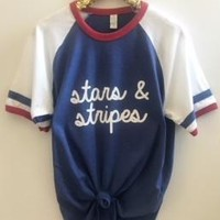Stars and Stripes  - 4th of July Shirt - Ruffles with Love - RWL