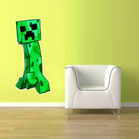 Full Color Wall Decal Vinyl Sticker Decor Art Bedroom Design Mural Like Paintings Minecraft Creeper Video Game (col513)