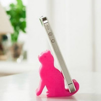 2pcs/lot Funny Cell Phone Holders Lovely Cat Mobile Phone Stand Fashion Accessories Cell Phone Mounts = 1929805252