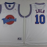Space Jam Movie Jersey #10 LOLA White Jersey
