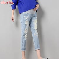 New Maternity Jeans Pants For Pregnant Women Nursing Jeans Long Prop Belly Legging Skinny Maternity Clothes For Pregnancy Trouse