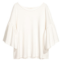 H&M Top with Flounced Sleeves $24.99