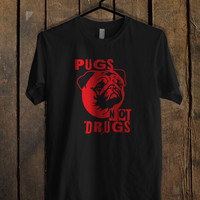Pugs Not Drugs Red T Shirt Mens T Shirt and Womens T Shirt *